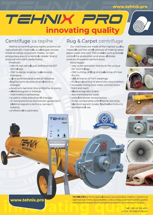centrifuge za pranje tepiha